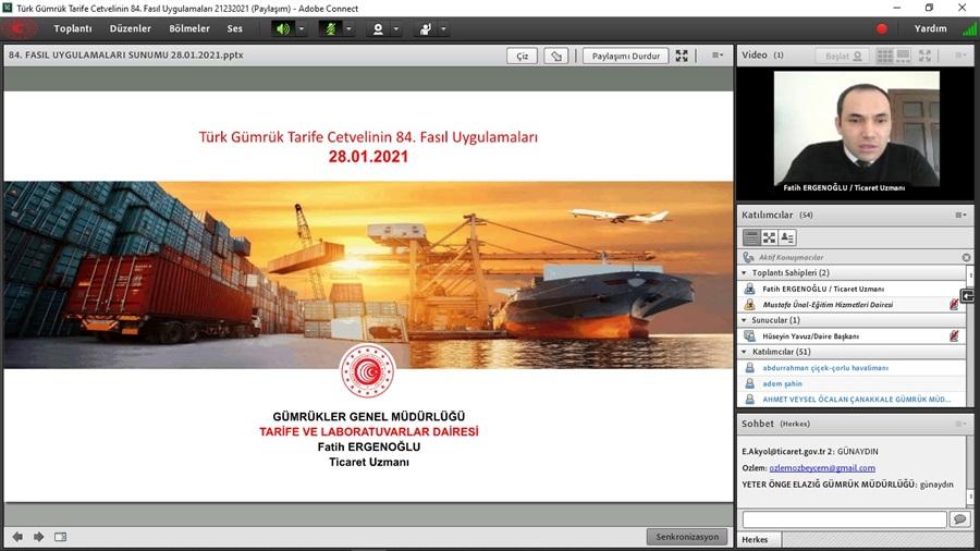 Türk Gümrük Tarife Cetvelinin 84. Fasıl Uygulamaları Eğitimi Sona Erdi